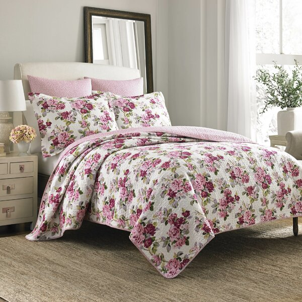 Lidia 100% Cotton Reversible Quilt Set by Laura Ashley Home by Laura Ashley Home